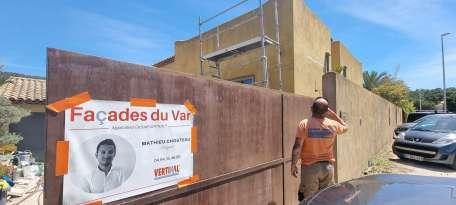 Ravalement de façades Le Pradet FAÇADES DU VAR - Applicateur Exclusif VERTIKAL® Francis