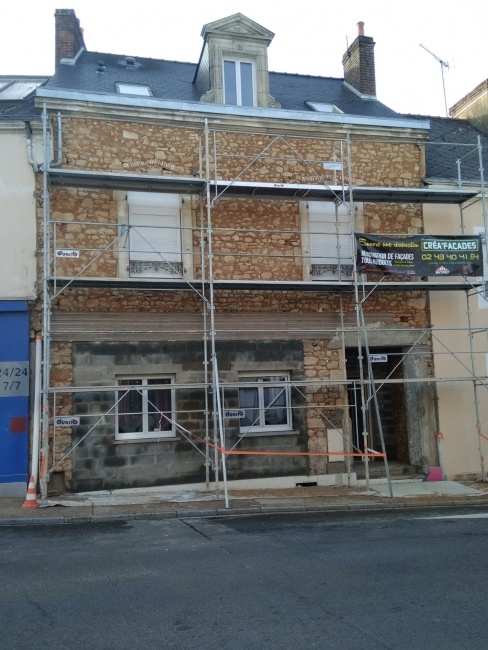 Rénovation de façades Le Mans Crea'Facades - Applicateur Exclusif VERTIKAL Christophe