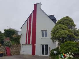 Rénovation de façades Saint-Pabu TALOC FACADES & PEINTURE - Applicateur exclusif VERTIKAL Jean-Pierre