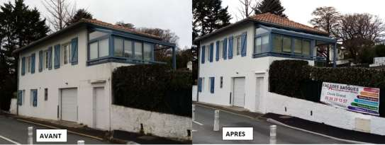Rénovation de façades Ravalement de façades Anglet Façades Basques - Applicateur Exclusif VERTIKAL JOSETTE