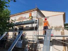 Ravalement de façades Pierrefeu-du-Var Façades du Var - Applicateur Exclusif VERTIKAL Sébastien