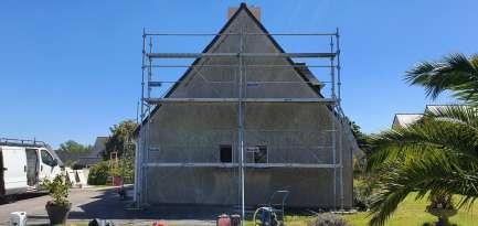 Rénovation de façades Saint-Pabu TALOC FACADES & PEINTURE - Applicateur exclusif VERTIKAL Jacky