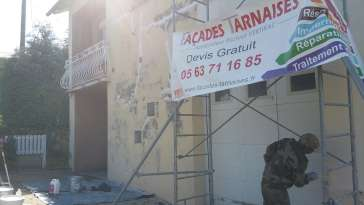 Rénovation de façades Saïx FAÇADES TARNAISES - Applicateur Exclusif VERTIKAL® Fabienne et Benjamin